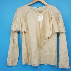 NWT Maria Stanley 100% Silk Ronney Blouse Small